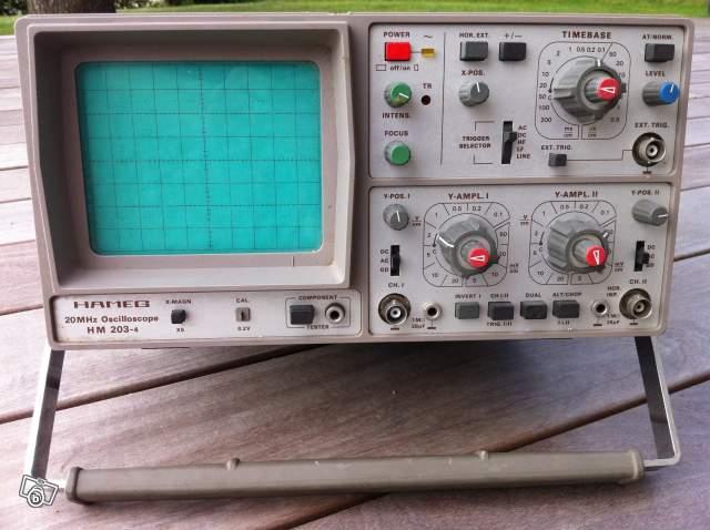 d u00e9tails annonce   oscilloscope hameg 20mhz hm203