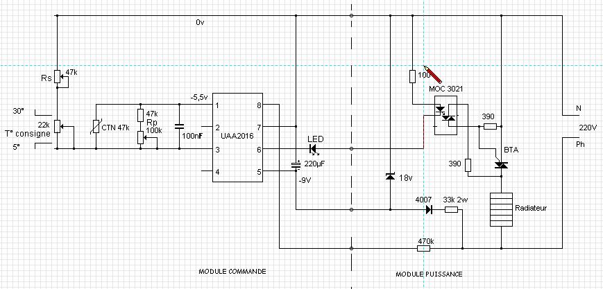 thermostat lin u00e9aire pour radiateur base uaa2016