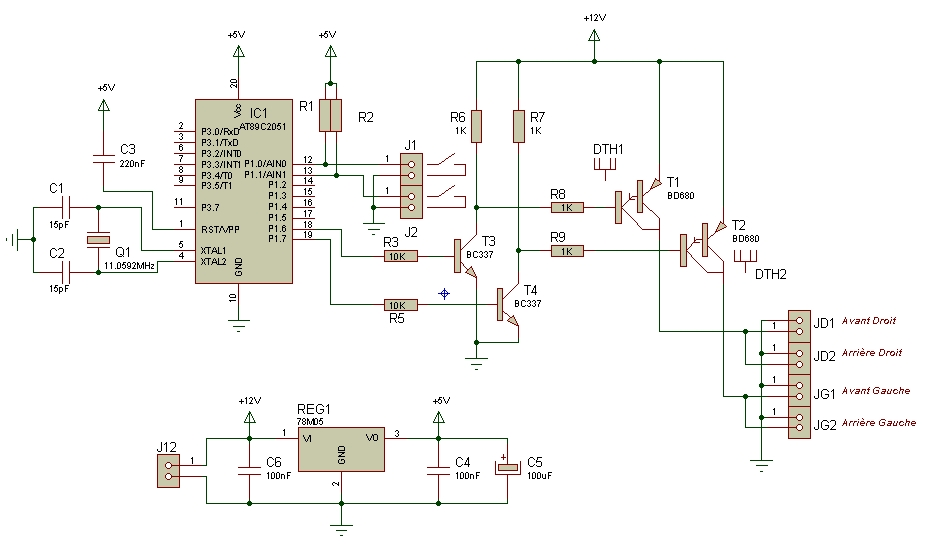 Automobile on 12v battery charger circuit simple