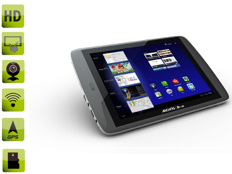 Tablette tactile ARCHOS-502031 / 8'' capacitif / 8 Go / Android 4.0 ICS