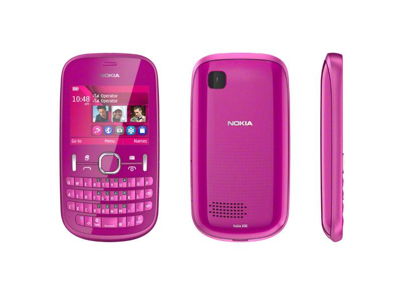 nokia t l phone portable asha 200 double sim rose. Black Bedroom Furniture Sets. Home Design Ideas