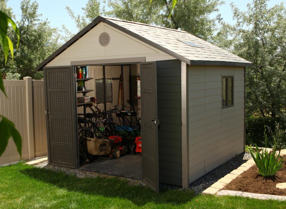 abri de jardin pvc 2 04 m2 la petite cabane de jardin sans entretien - Petite Cabane De Jardin