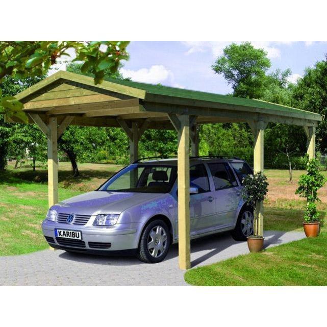 Karibu carport carport 1 simple bois 297 x 496 x 260cm for Karibu carport