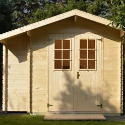 luoman abri de jardin en bois brut leman 143 655 m 19 mm. Black Bedroom Furniture Sets. Home Design Ideas