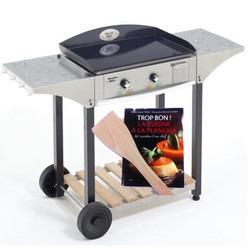 roller desserte chps inox bois pour plancha grill 600 catgorie accessoire de barbecue. Black Bedroom Furniture Sets. Home Design Ideas