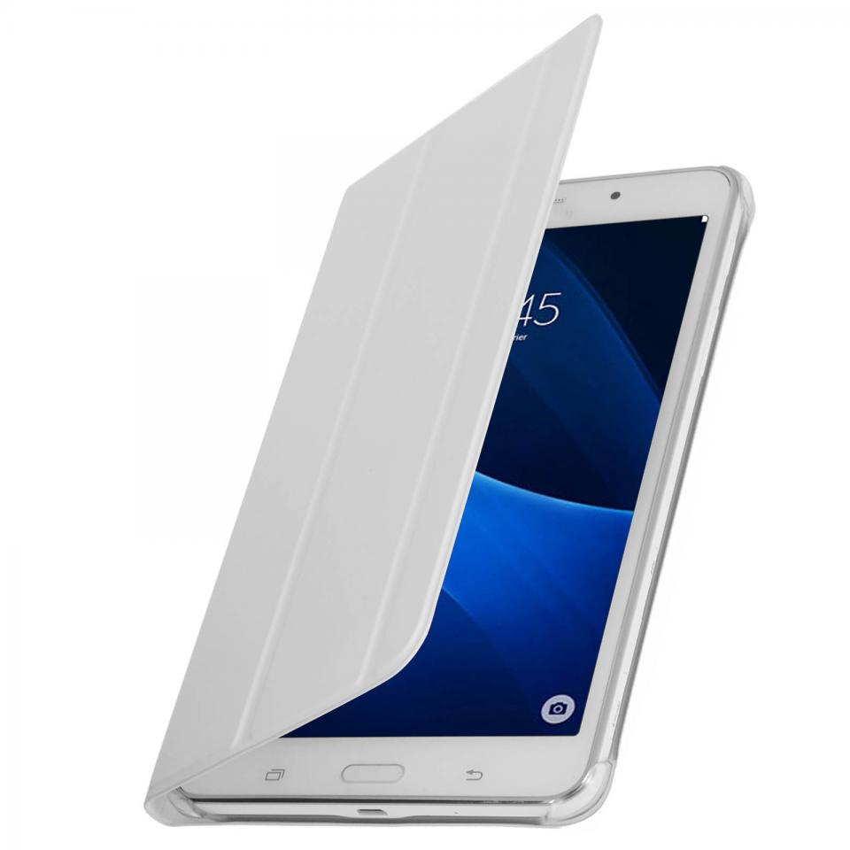 housse galaxy tab a6 samsung galaxy tab a6 sm t580nzwaxef wifi blanc housse portefeuille. Black Bedroom Furniture Sets. Home Design Ideas