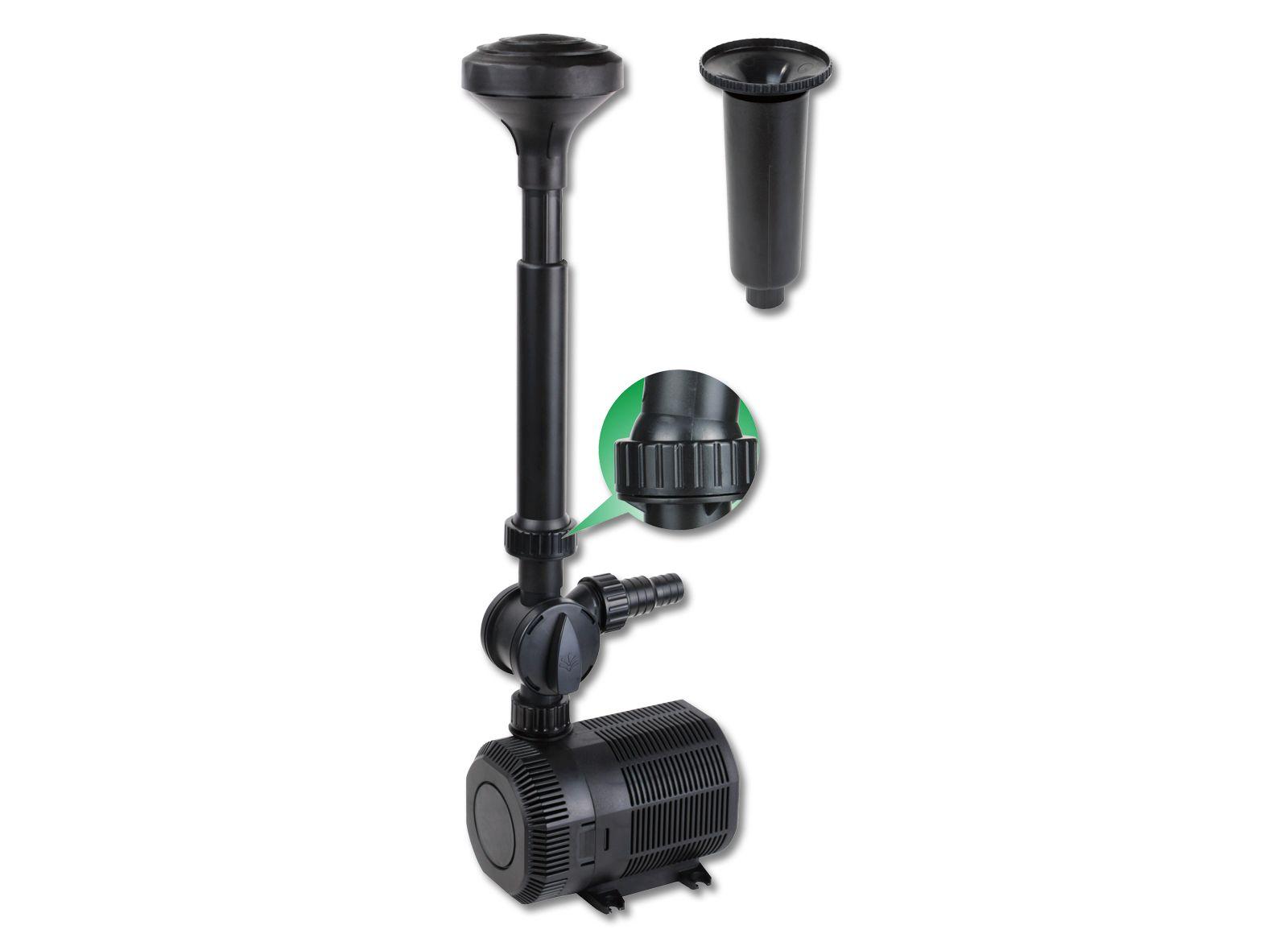 Sunsun cqb 8003 eco pompe de fontaine bassin tang 6500l for Pompe pour etang de jardin