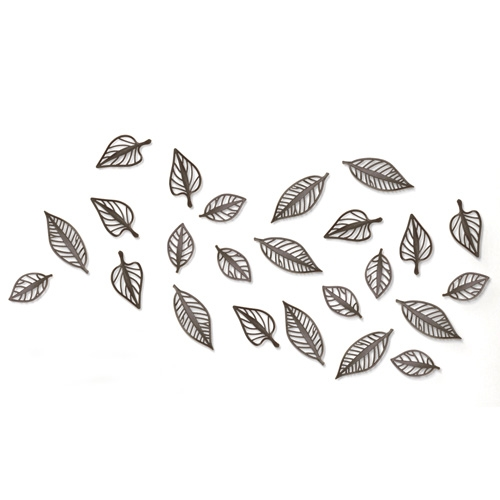 Umbra cdcoration murale feuilles for Decoration murale feuille metal