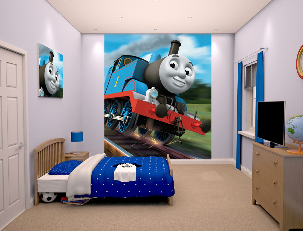 walltastic papier peint mural thomas et ses amis 203 x 244. Black Bedroom Furniture Sets. Home Design Ideas