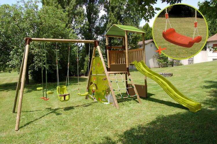 Soulet c maisonnette aurore cat gorie cabanes pour enfants for Jeu bois exterieur