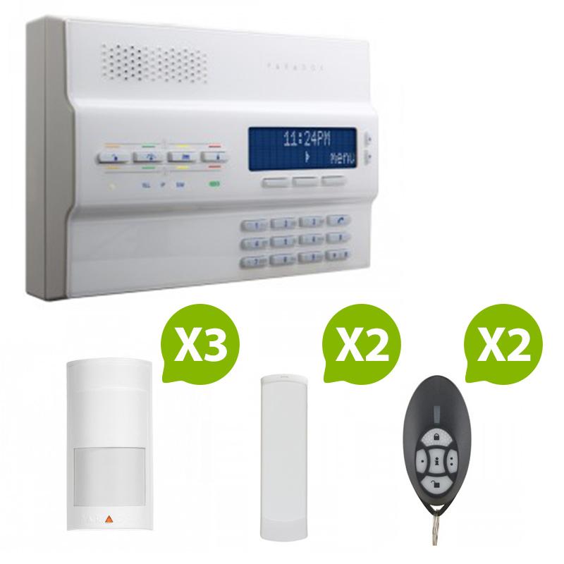 paradox alarme maison sans fil magellan mg 6250 rtc kit 4. Black Bedroom Furniture Sets. Home Design Ideas