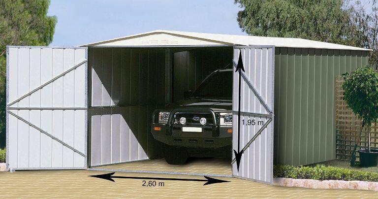 garage en m tal grande hauteur colorbond 18m. Black Bedroom Furniture Sets. Home Design Ideas