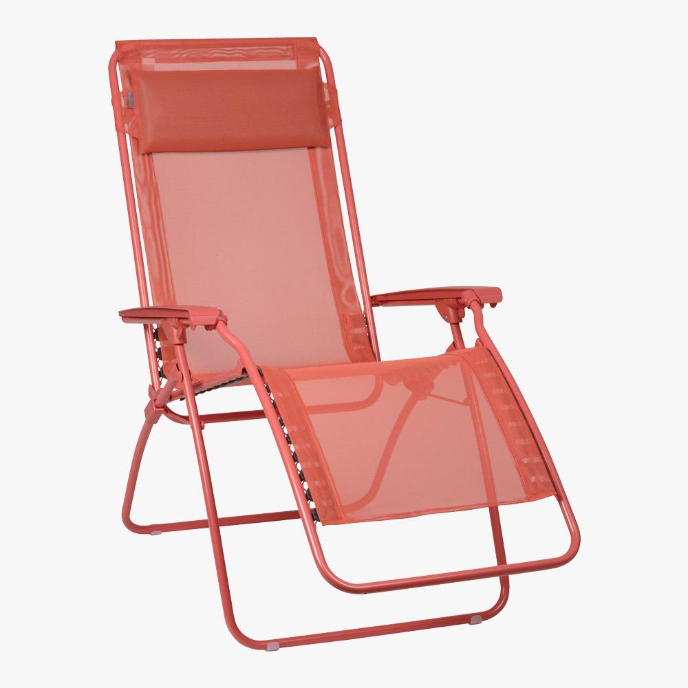 Lafuma fauteuil r clip colblock couleur aurore rouge - Fauteuil jardin lafuma ...
