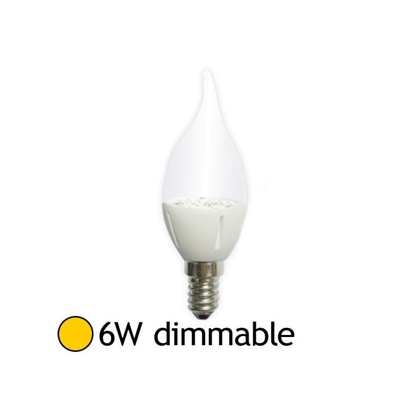 vision campoule led e14 6w 2700k coup de vent dimmable el 7490bd catgorie ampoule lectrique. Black Bedroom Furniture Sets. Home Design Ideas