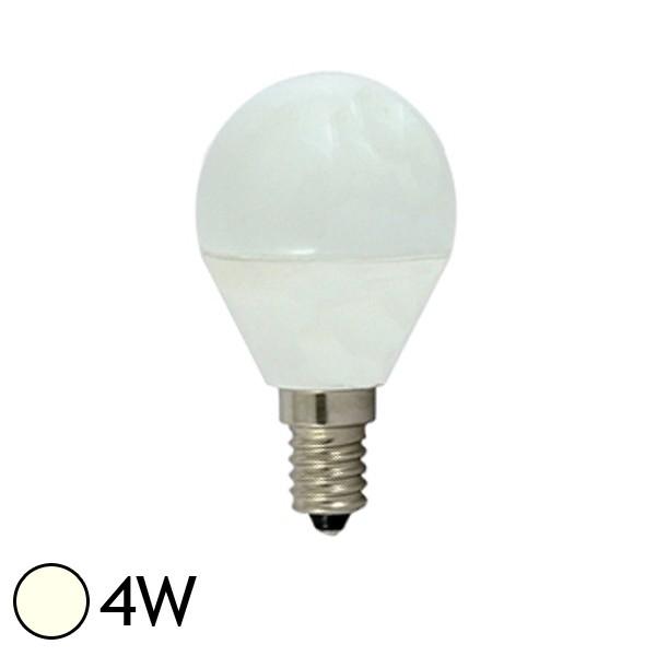 vision ampoule led 4w e14 boule opaque blanc jour 4000k. Black Bedroom Furniture Sets. Home Design Ideas