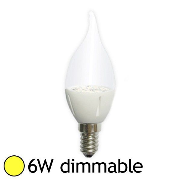 Vision campoule led e14 6w 3000k coup de vent dimmable e - Ampoule led dimmable ...