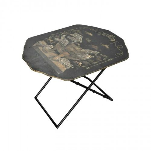Table basse en bois avec pitement inclin ellinor blanc - Table basse peinte ...