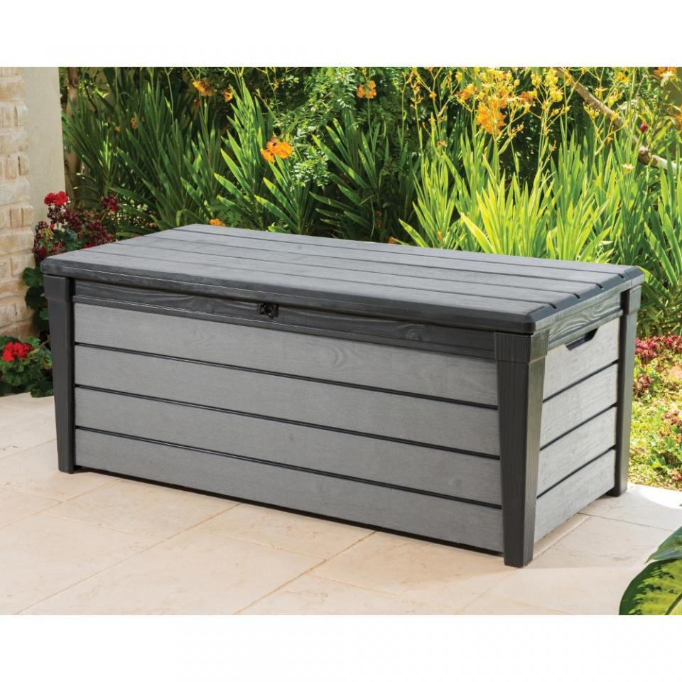 chalet ccoffre de rangement en rsine aspect bois jardin catgorie accessoire pour spa et jacuzzi. Black Bedroom Furniture Sets. Home Design Ideas
