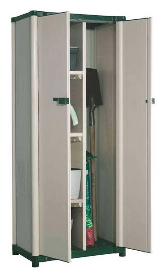 Grosfillex armoire basse workline coloris gr ge for Armoire grosfillex essential