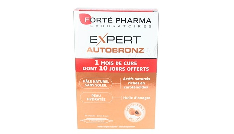 forte pharma autobronz 20 ampoules 10 offertes gout abri. Black Bedroom Furniture Sets. Home Design Ideas