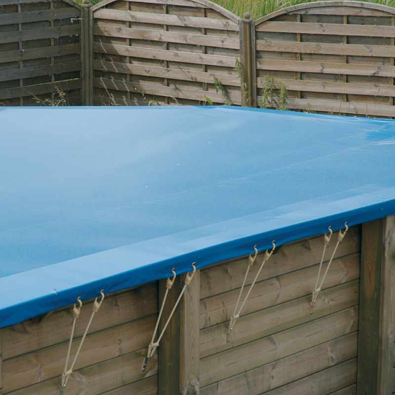 Ubbink bche hivernage scurit nortland for Couverture piscine bois
