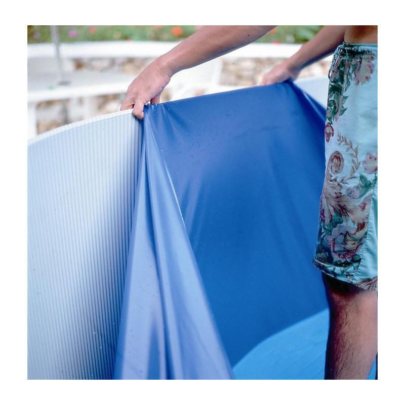 Gre cliner bleu 8 00 x 4 7 x 1 32 m pool pour piscine for Rail pour liner piscine