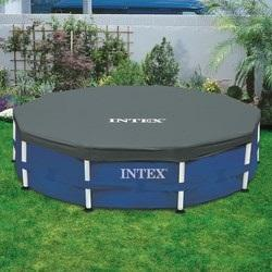 Intex cbche de protection pour piscine tubulaire ronde for Liner piscine tubulaire ronde