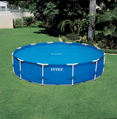 Intex cbache a bulles pour piscine ronde for Leclerc piscine intex