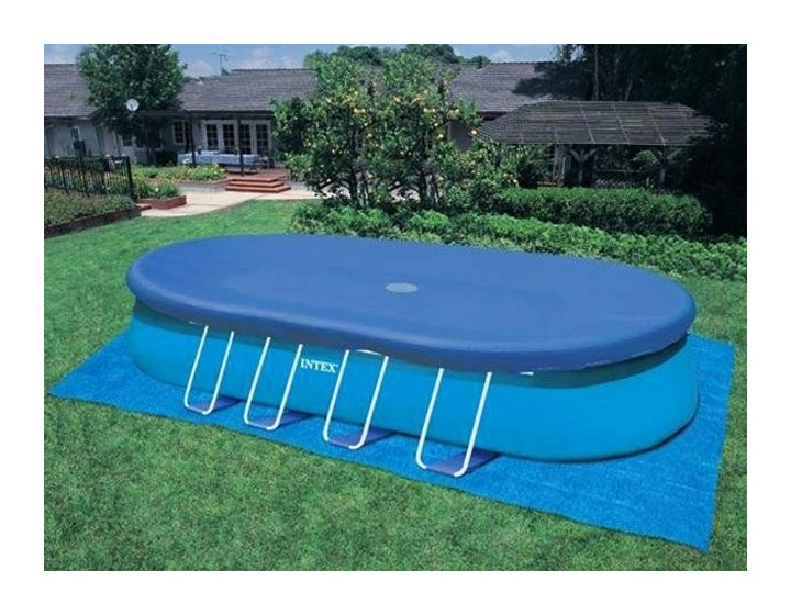 Intex couverture hivernage piscine ellipse for Produit piscine