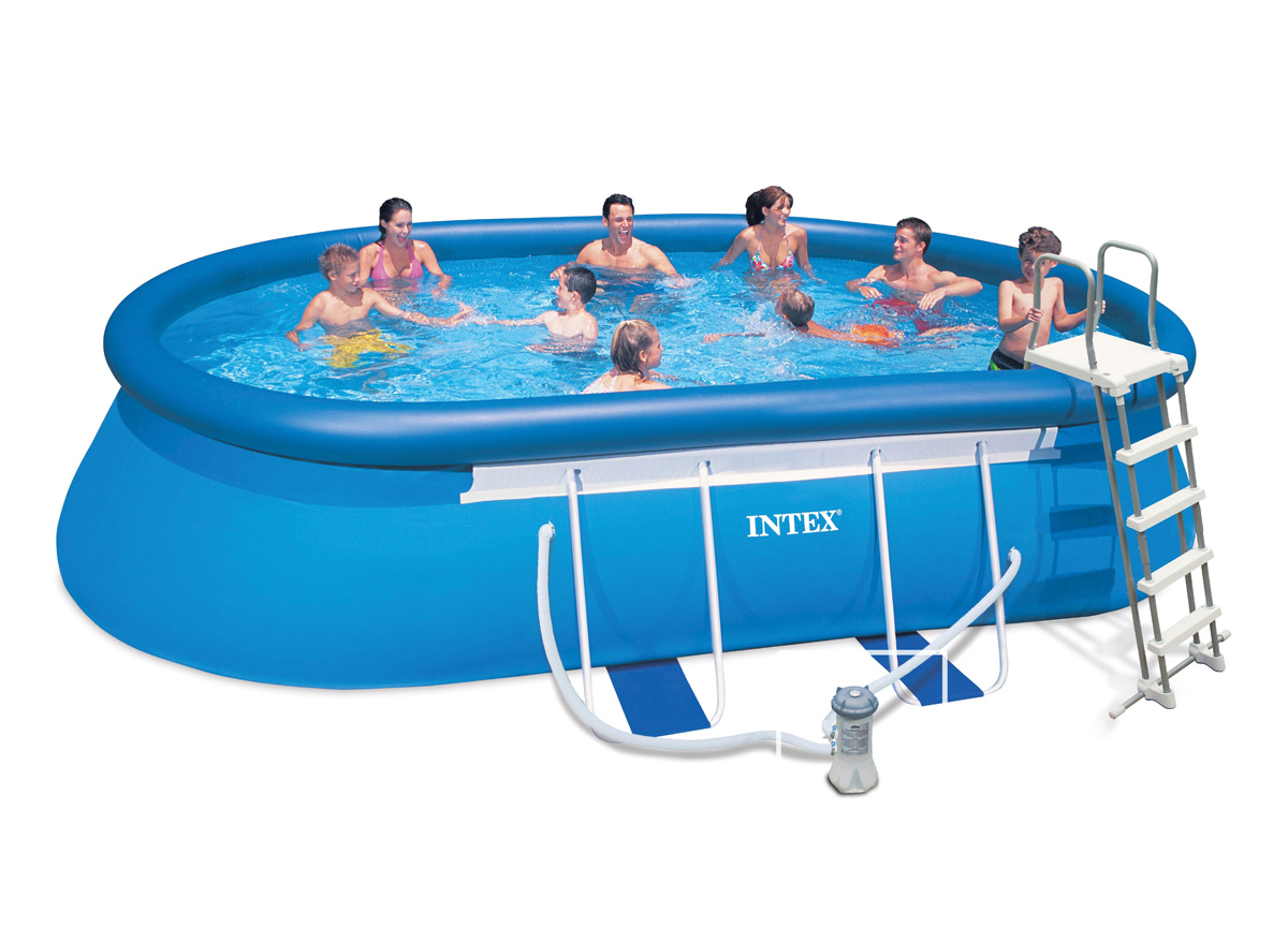 Intex liner ellipse x x 107 m liner seul for Liner piscine intex