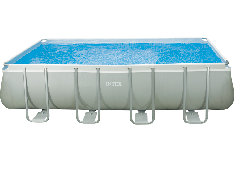 Intex liner tubulaire rectangulaire gris 732x366x132 for Intex piscine liner