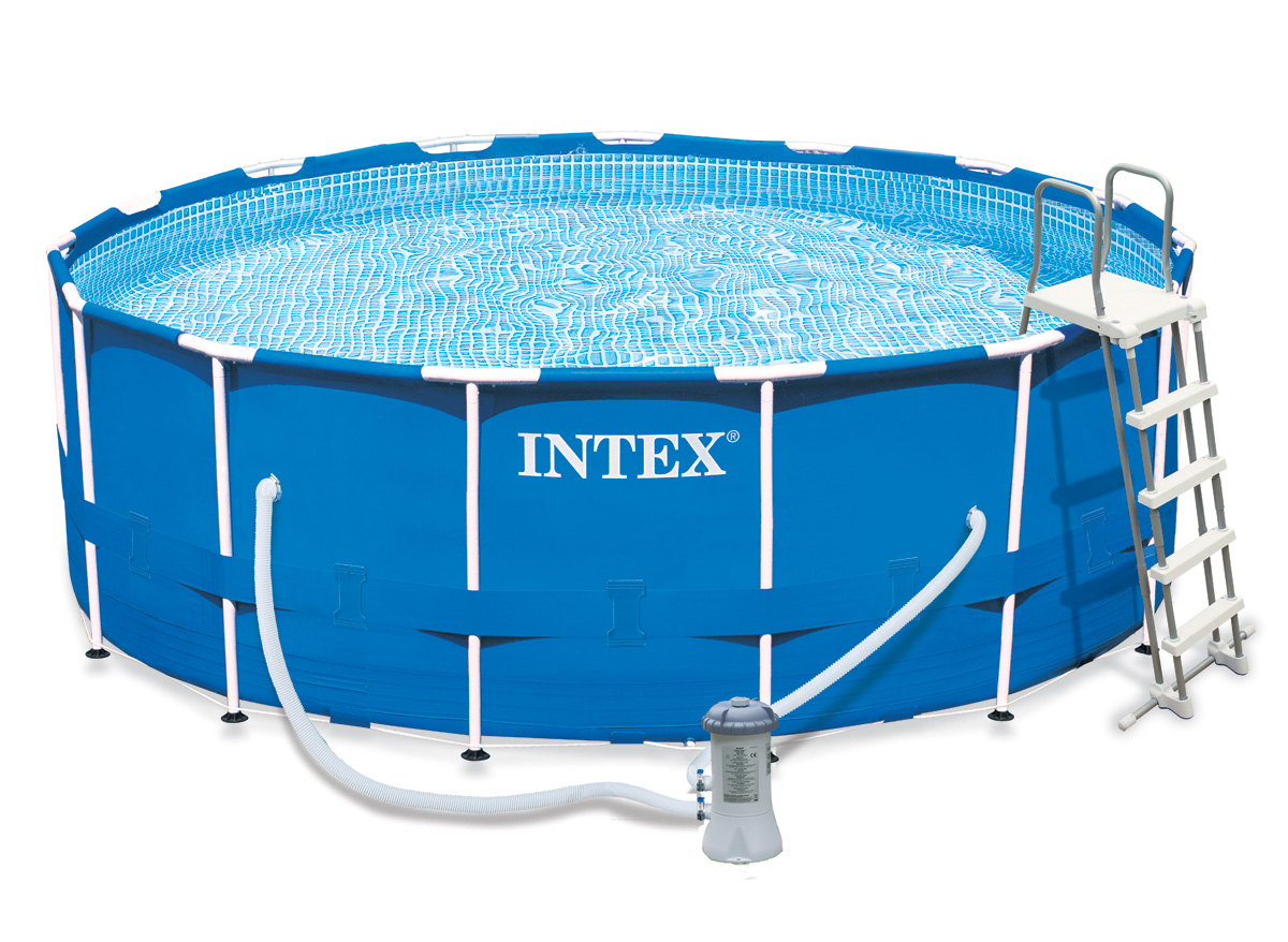 Intex liner tubulaire rond bleu 427 x 122 m liner se for Piscine intex liner