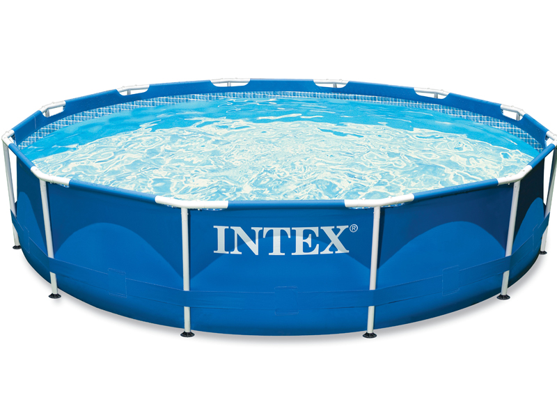 Intex liner tubulaire rond bleu 457 x 107 m liner s for Liner piscine intex