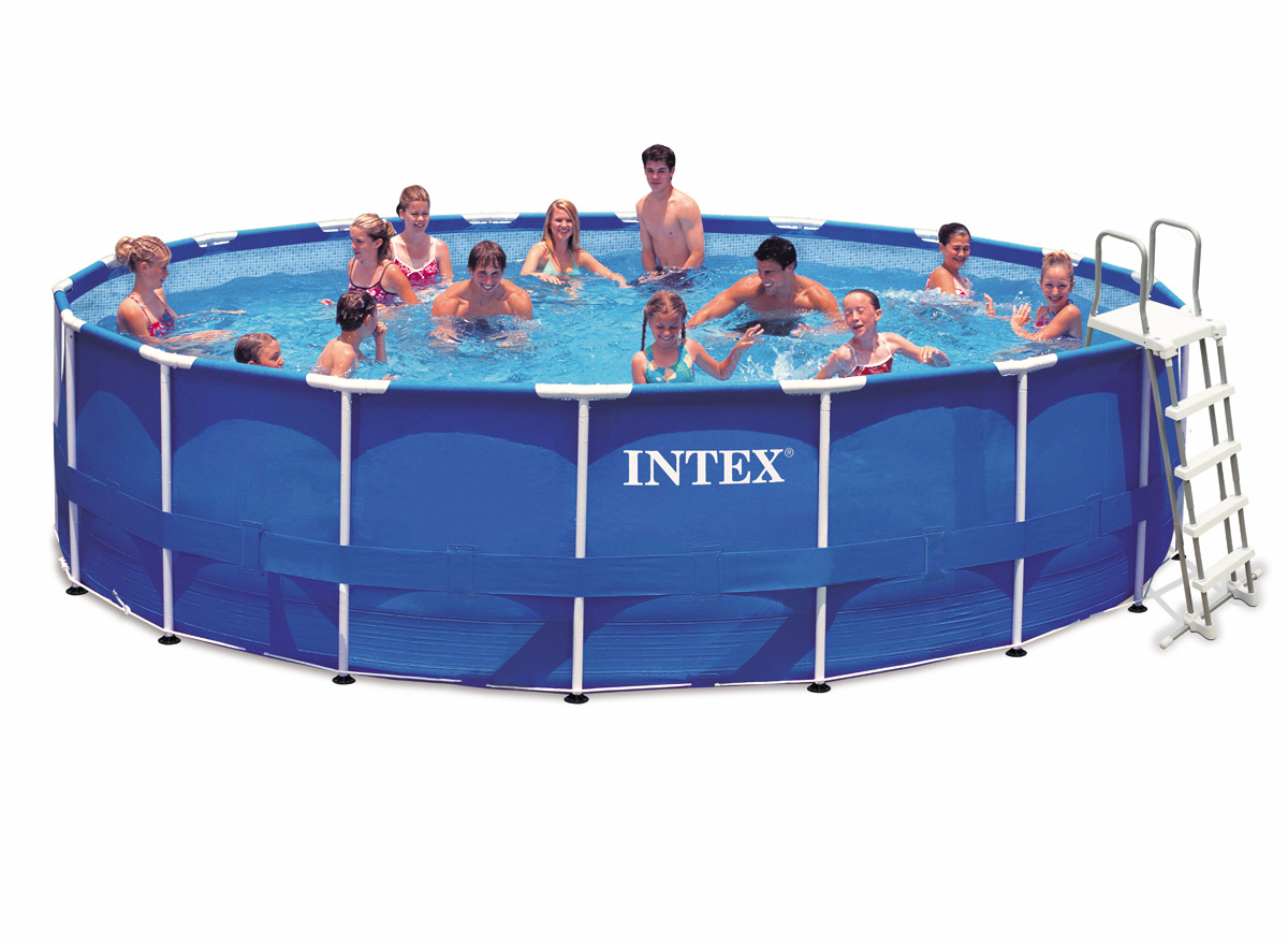 Intex liner tubulaire rond bleu x 122 m liner s for Liner pour piscine tubulaire intex