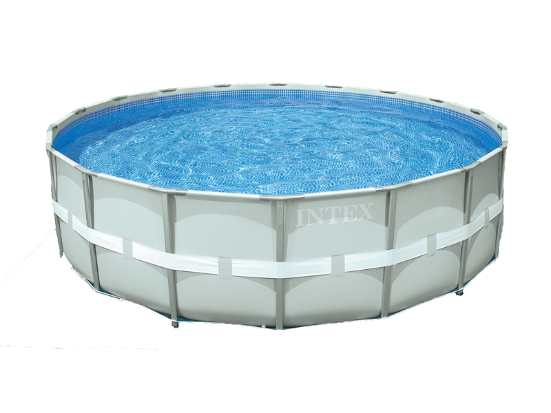Intex liner tubulaire rond gris 488 x 122 m liner s for Liner piscine intex