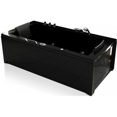 Baignoire baln o spa guyane rectangle noire noir - Baignoire balneo noir ...