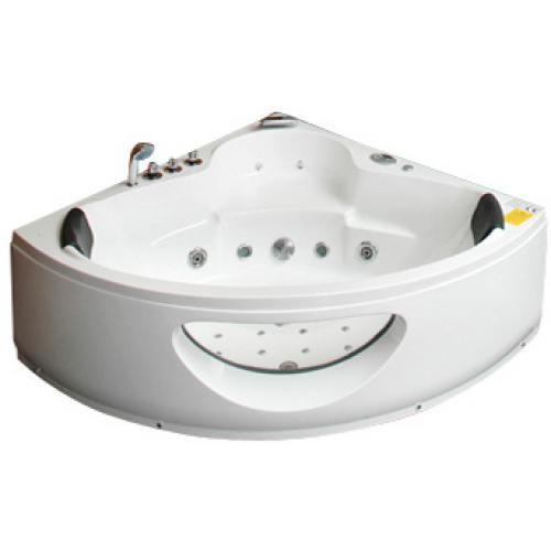 baignoire baln o spa d 39 angle bali blanche blanc. Black Bedroom Furniture Sets. Home Design Ideas