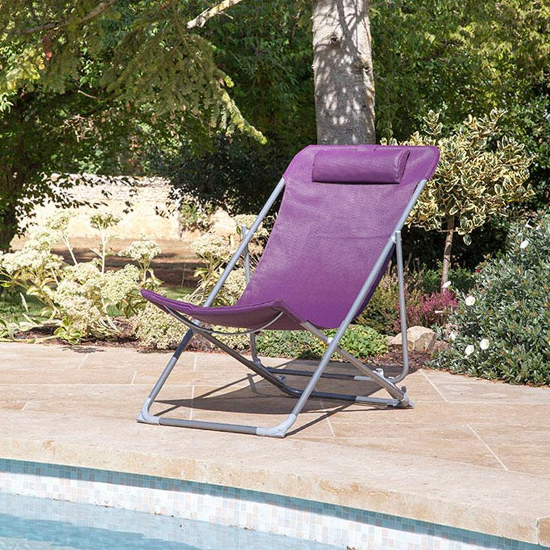 Cat gorie bain de soleil du guide et comparateur d 39 achat for Transat pliant jardin
