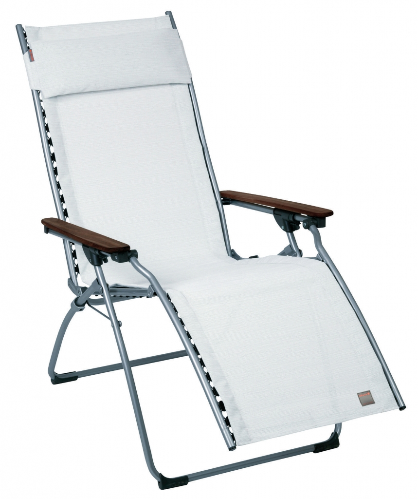 Lafuma c chaise pliante evolution avec batyline natural 2 for Chaise bain de soleil pliante