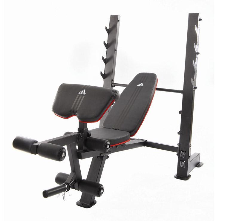 Pour travailler efficacement les pectoraux les biceps les quadriceps et les mollets ce banc - Banc de musculation guide ...