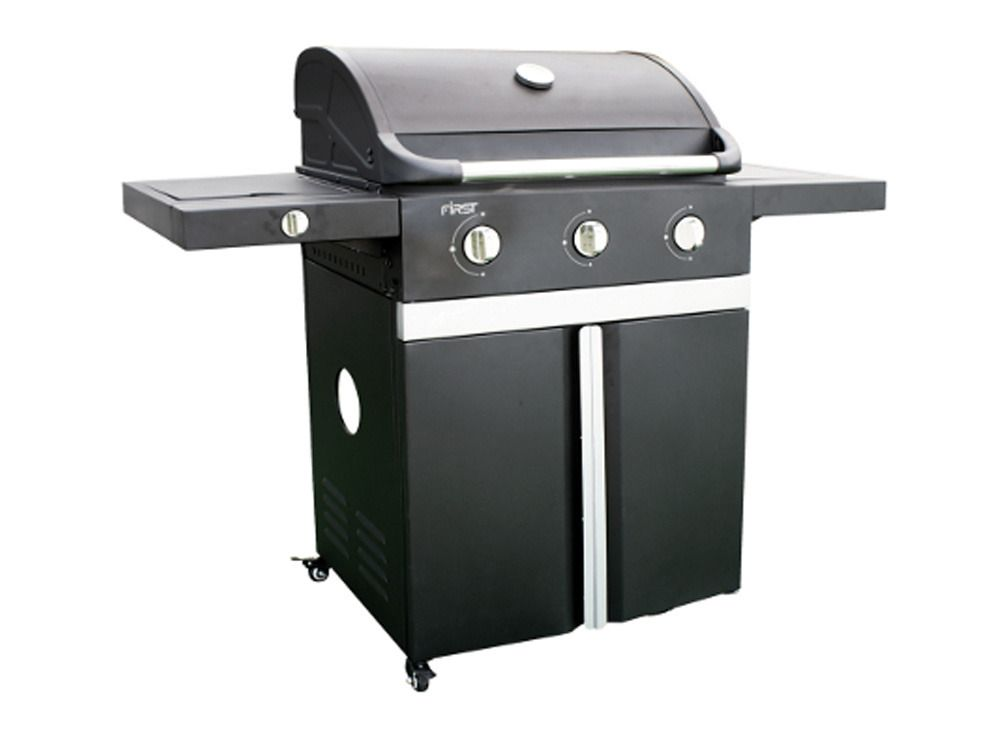 Cook in garden 0010319 bbq gas americain evho 3 black for Baraque jardin