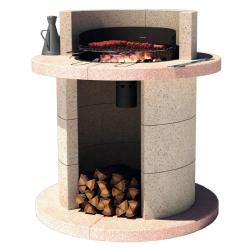 barbecue fixe rond. Black Bedroom Furniture Sets. Home Design Ideas