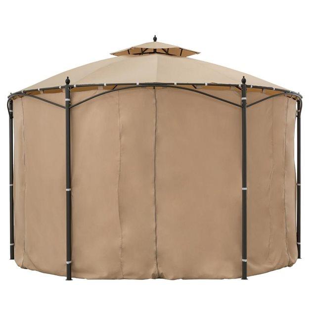 hesperide c rideaux pour tonnelle iloha beige. Black Bedroom Furniture Sets. Home Design Ideas