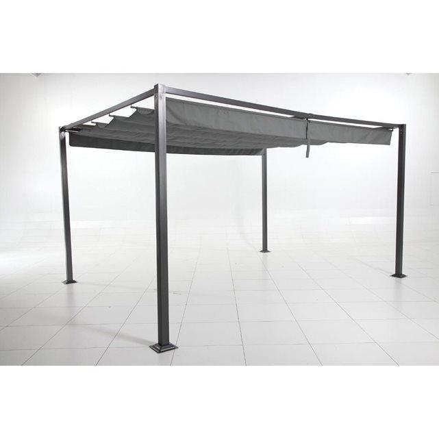 hesperide c tonnelle elliston 3 x 4 m ardoise. Black Bedroom Furniture Sets. Home Design Ideas