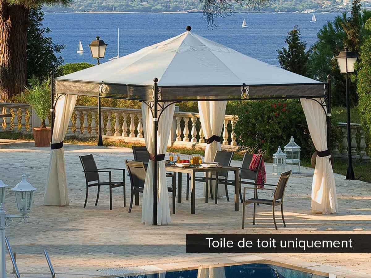 hesperide toile de toit pour la tonnelle jakarta 35 x 35 m. Black Bedroom Furniture Sets. Home Design Ideas