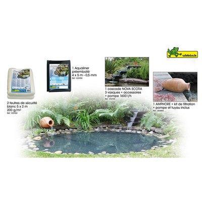 Ubbink ckit complet pour bassin construire couleur for Liner bassin de jardin
