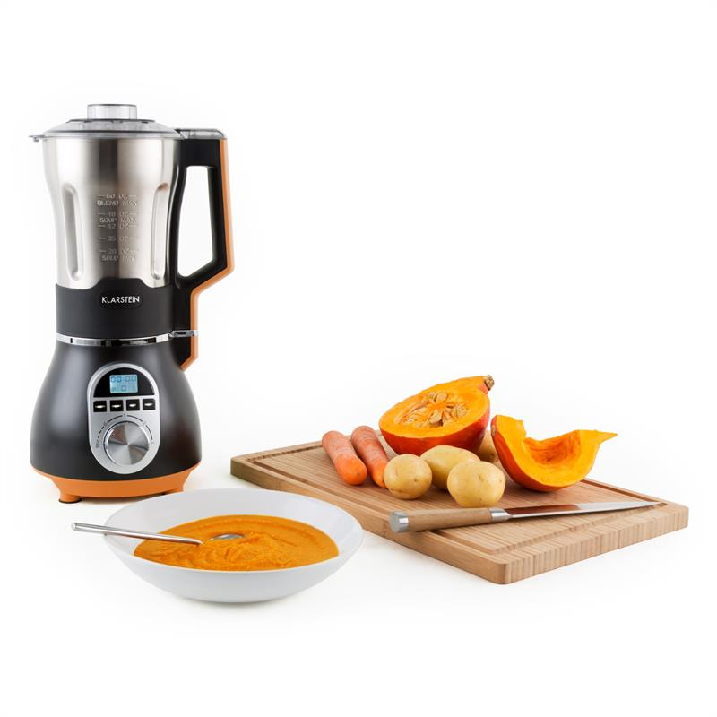 klarstein soup chef mixeur soupe acier 900w 1 75l orange. Black Bedroom Furniture Sets. Home Design Ideas