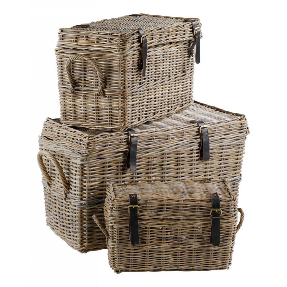 Inwood cset de 3 malles en kubu - Boite de rangement maison du monde ...