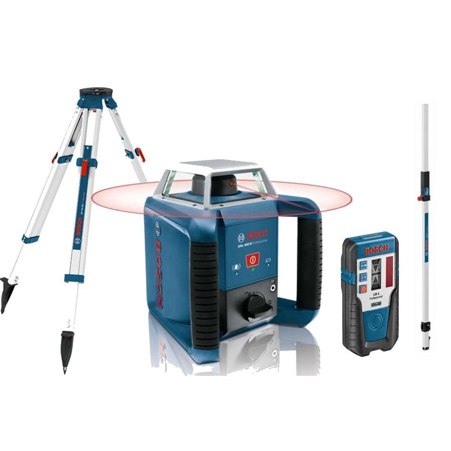 Bosch pack ext rieur laser rotatif grl 400 h cat gorie lame for Niveau laser exterieur bosch