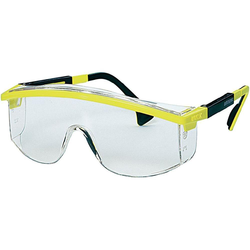 c83c1ada318bd8 Uvex Lunettes de protection jaunes et noires Astrospec